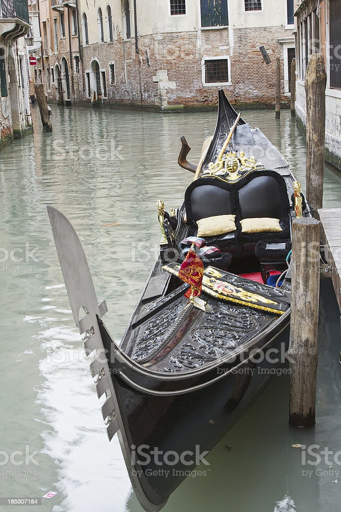 Gondola in Venice canal royalty-free stock photo