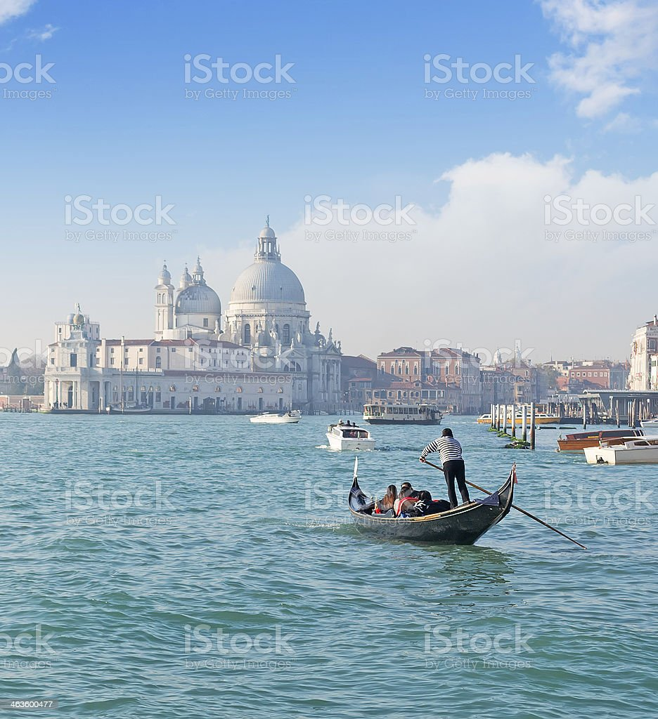 Gondola in Venice stock photo