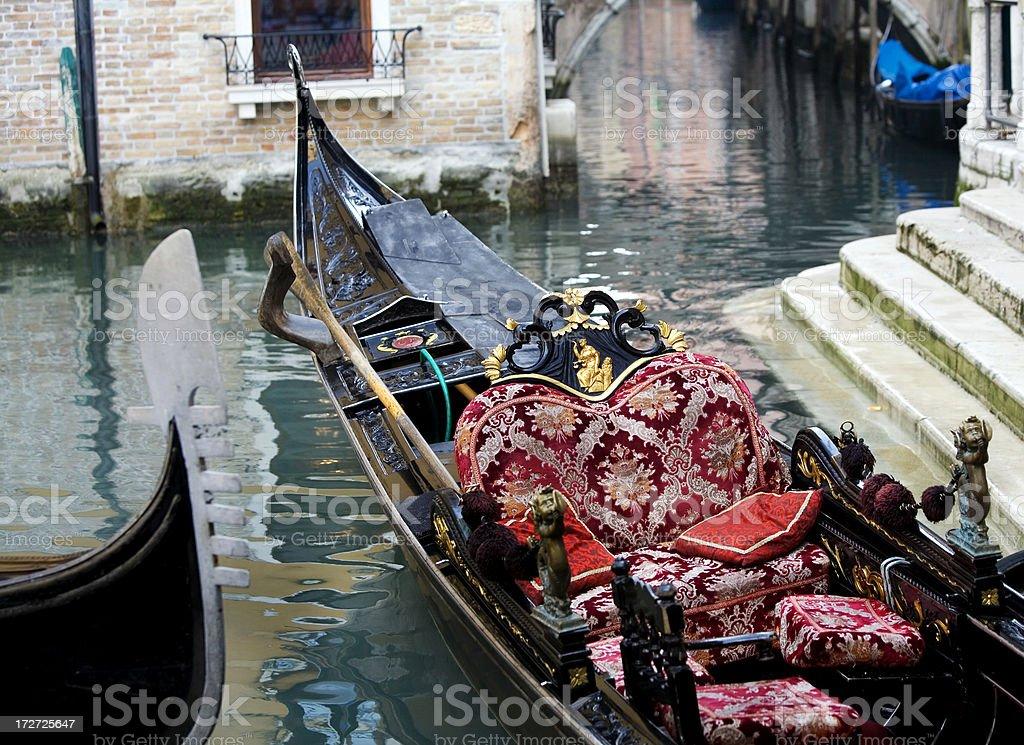 Gondola Interior Venice Italy royalty-free stock photo