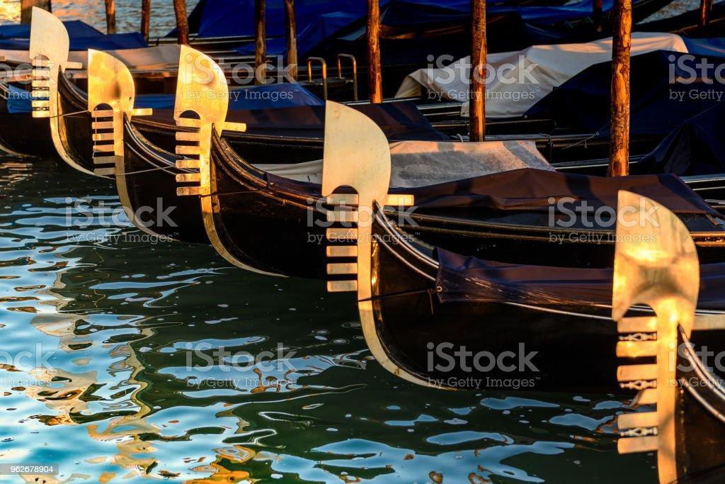 Ferro Da Gondola.Gondola Iron In The Early Morning Light Stock Photo