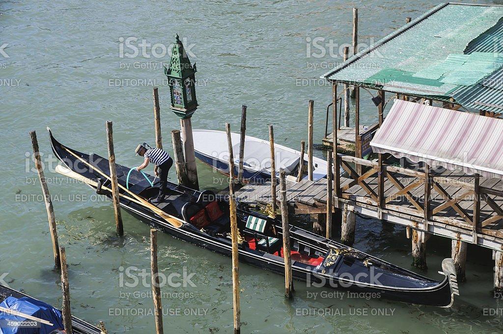 Gondola Maintenence royalty-free stock photo