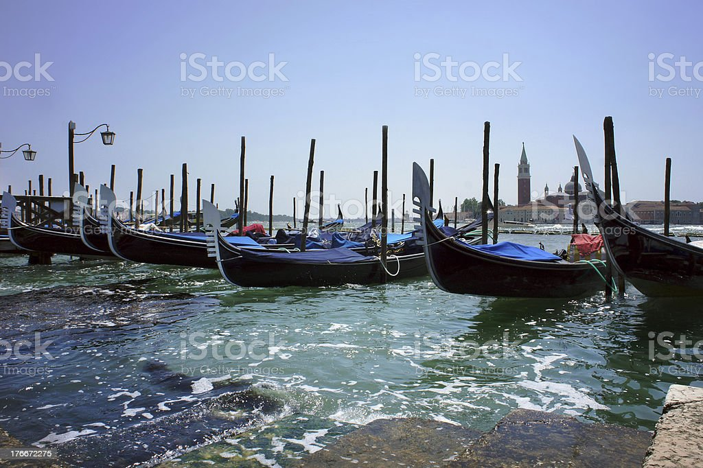 Gondola on Canal Grande in Venice, Italy royalty-free stock photo