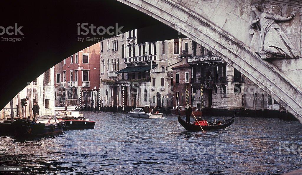 Gondola on Grand Canal, Venice royalty-free stock photo