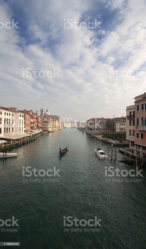 Gondola on the Grand Canal, Venice royalty-free stock photo