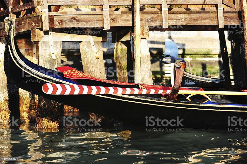 Gondola on the grand canale Venice Italy royalty-free stock photo