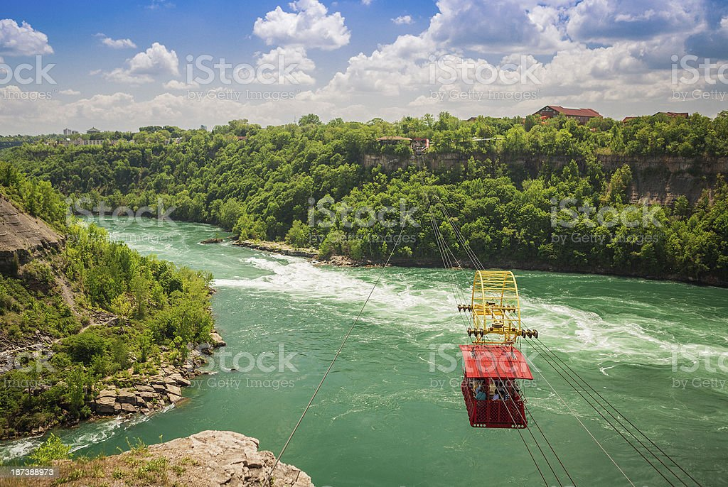 Gondola over the Niagara River stock photo