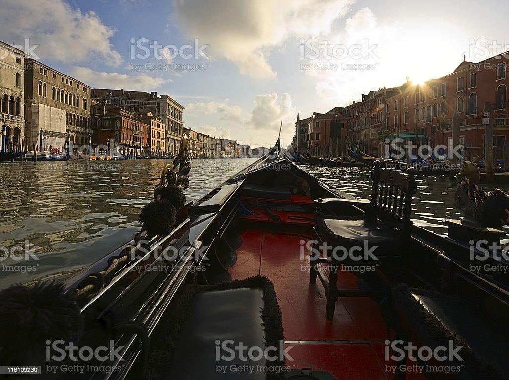Gondola ride, Venice royalty-free stock photo