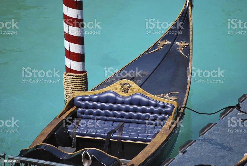 Gondola Seat stock photo