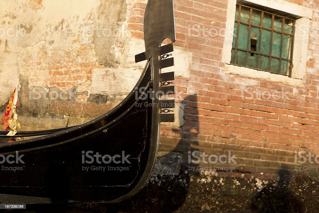 Gondola sunset royalty-free stock photo