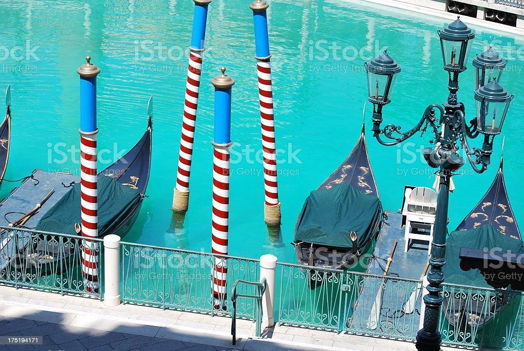 Gondolas and Poles stock photo