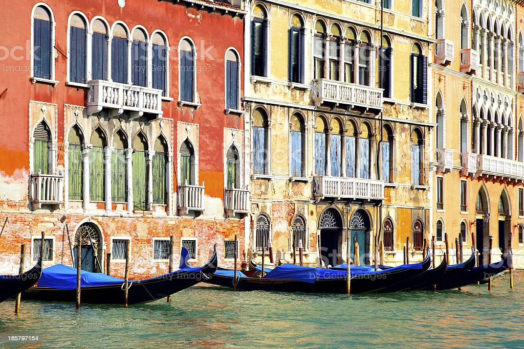 Gondolas at Grand Canal royalty-free stock photo