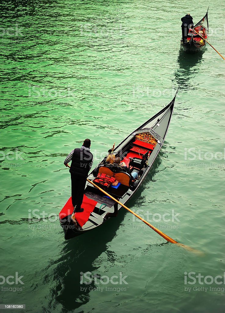 gondolas at rialto royalty-free stock photo