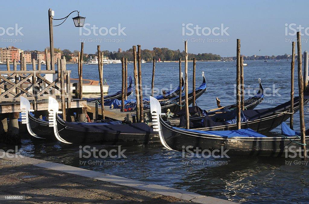 Gondolas at 해질녘까지 royalty-free 스톡 사진