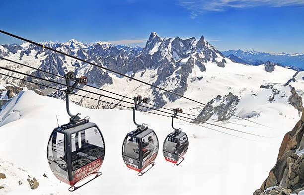 Gondolas in French Alps, Europe - Photo