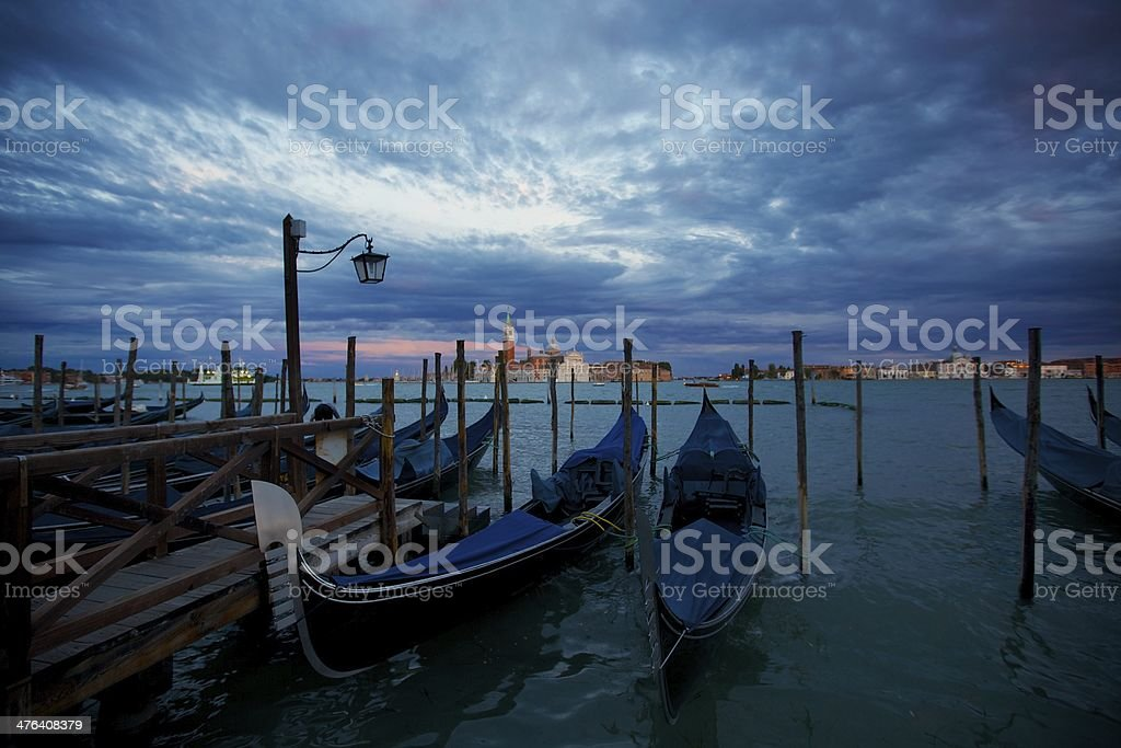 Gondolas in Venice, Italy royalty-free stock photo