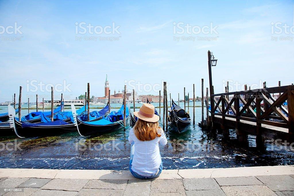 Gondolas в Венеции  стоковое фото