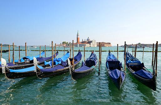 Gondolas in Venice,Italy.