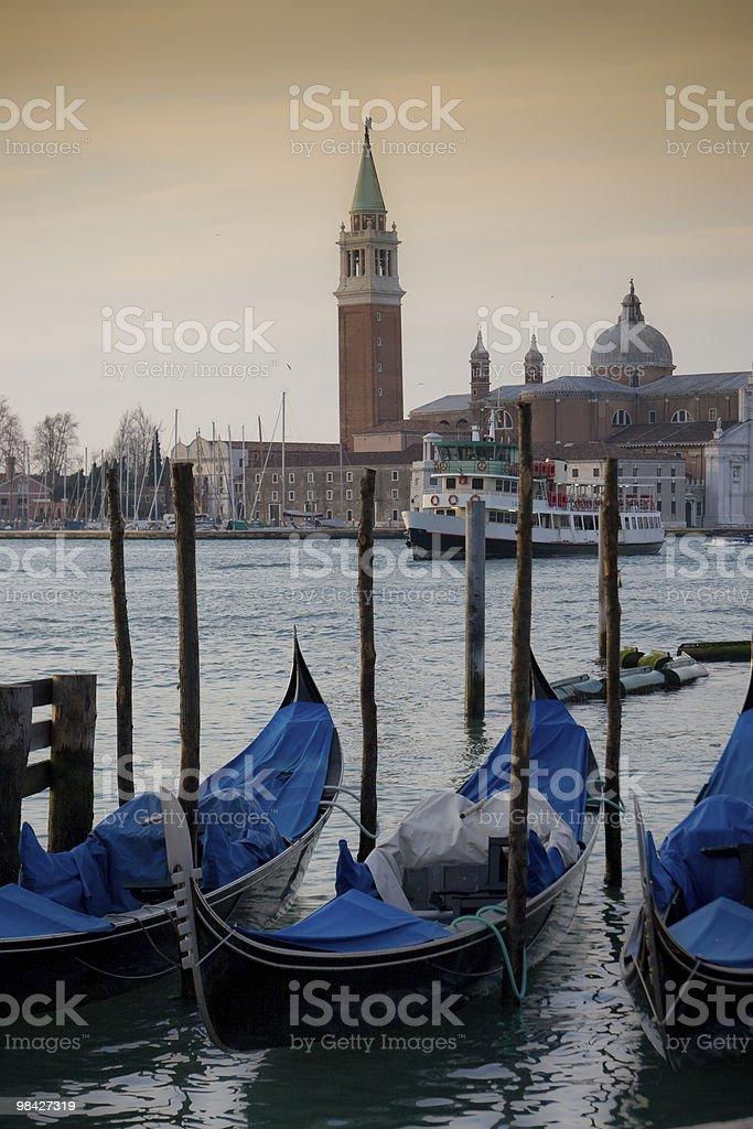 베니스 Gondolas royalty-free 스톡 사진