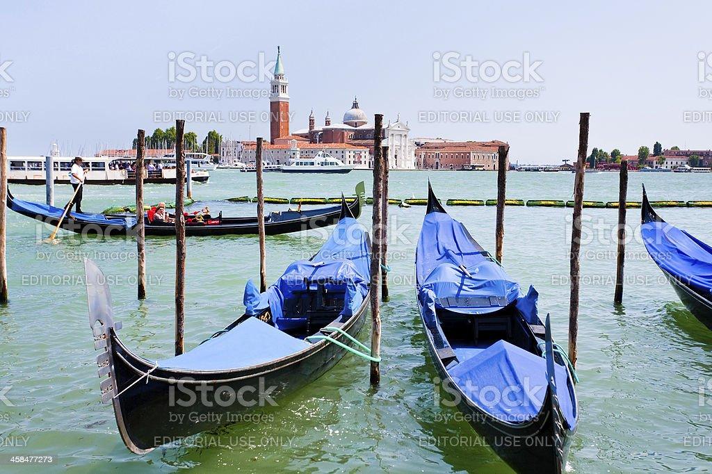 gondolas on San Marco Canal, Venice royalty-free stock photo