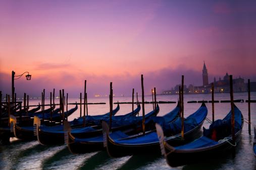Gondolas on the Venetian Lagoon
