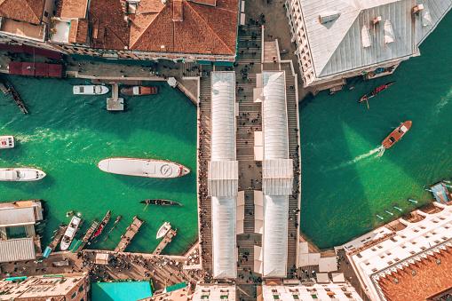 gondolas sailing along the narrow canals of Venice