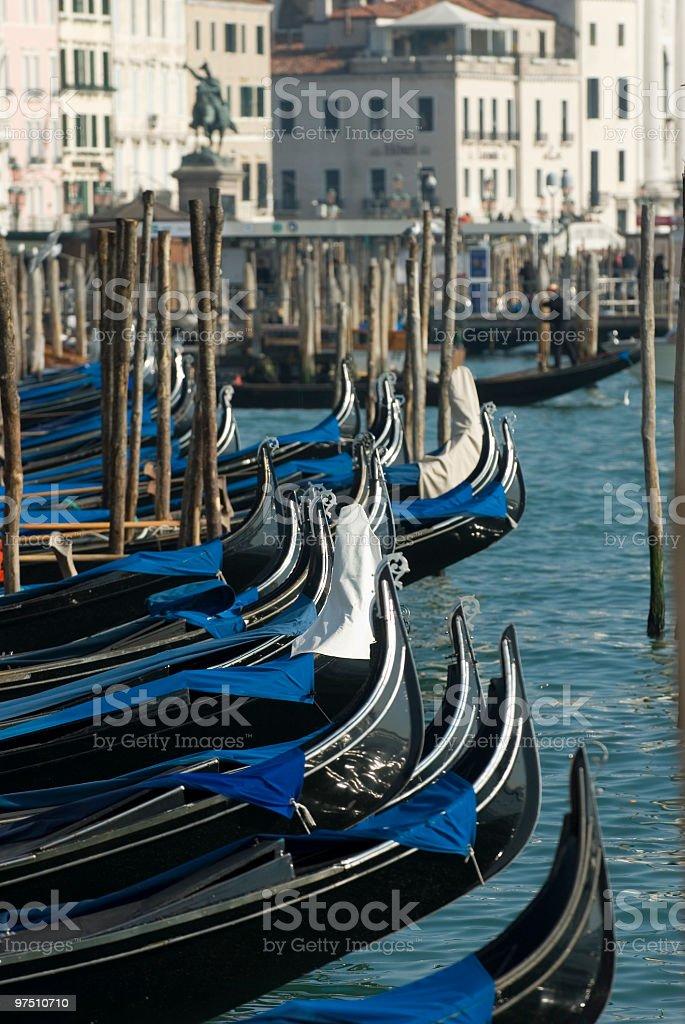 Gondolas San Marco Venice royalty-free stock photo