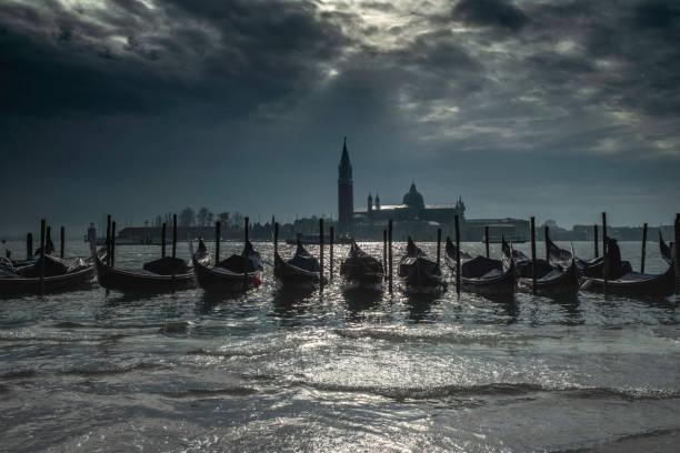 Gondolas, Venice, Italy stock photo