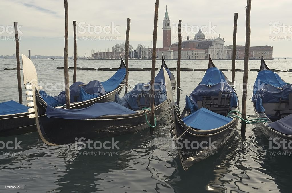 Gondolas. Venice royalty-free stock photo