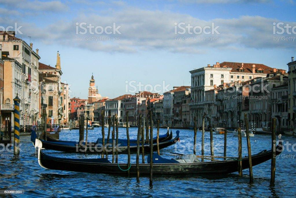 Gondole on the Canal Grande, Venice – Foto