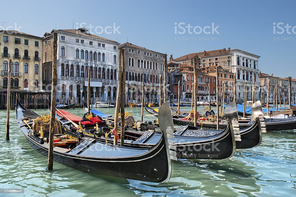 Gondole sul Canal Grande (Venezia) royalty-free stock photo