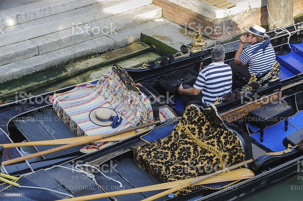Gondolier Conversation royalty-free stock photo
