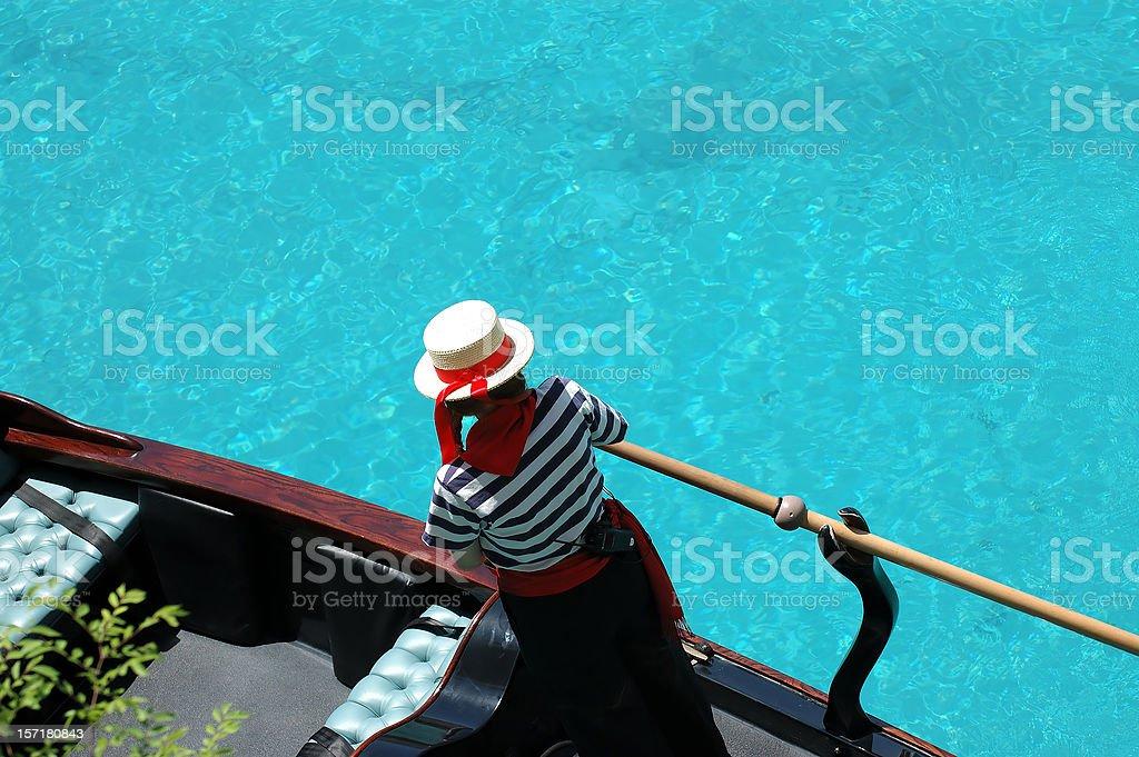Gondolier stock photo