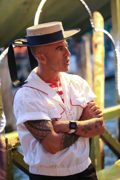 Gondolier - Venice Italy stock photo