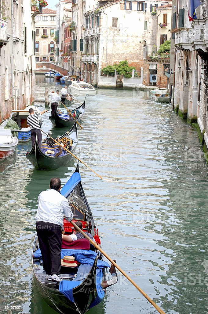 Gondoliers royalty-free stock photo