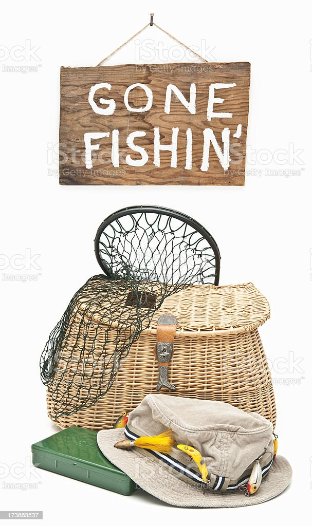 Gone Fishin' stock photo
