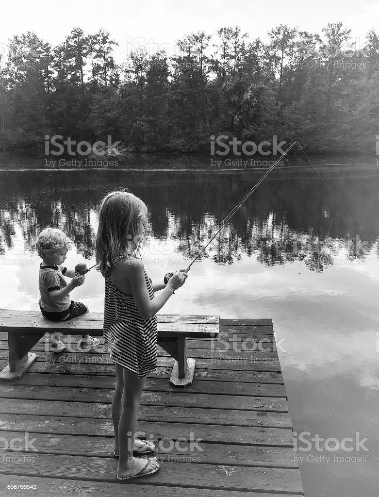 Gone Fishin stock photo