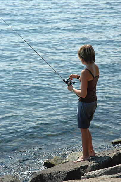 Gone fishing stock photo