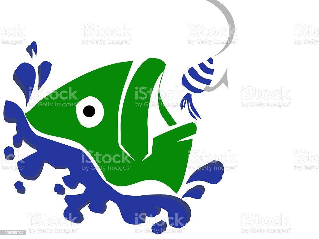 Gone Fishing royalty-free stock photo
