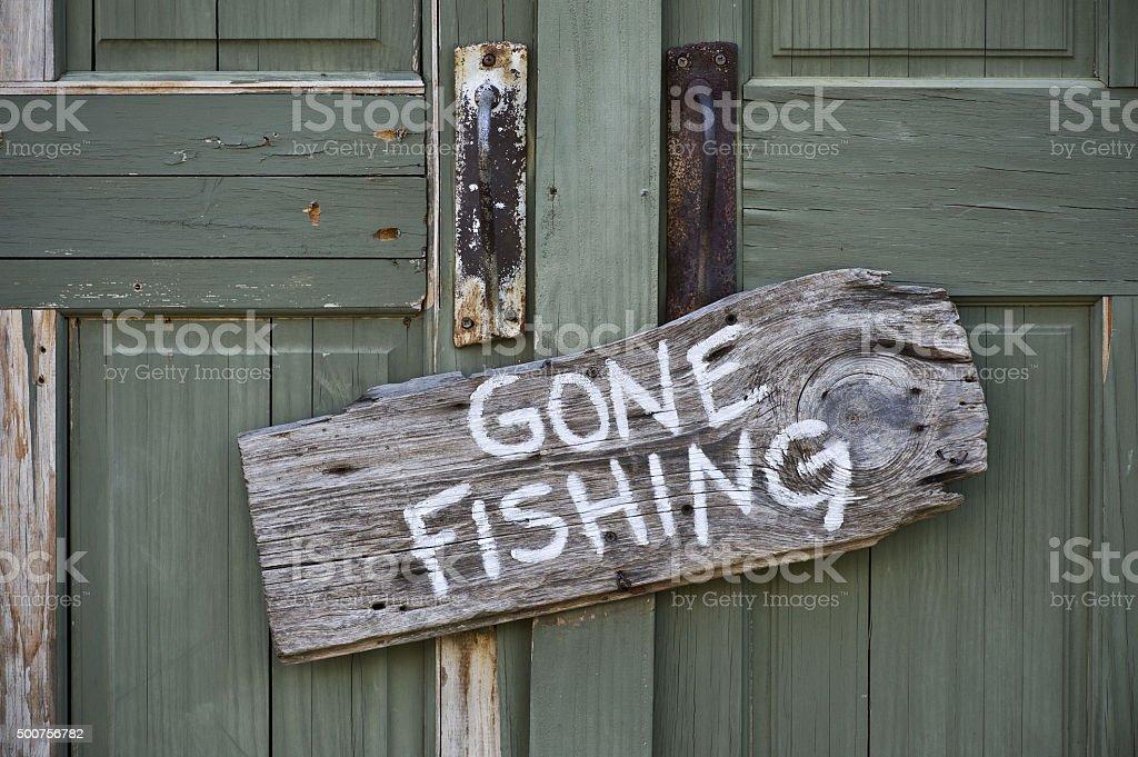 Gone Fishing. stock photo