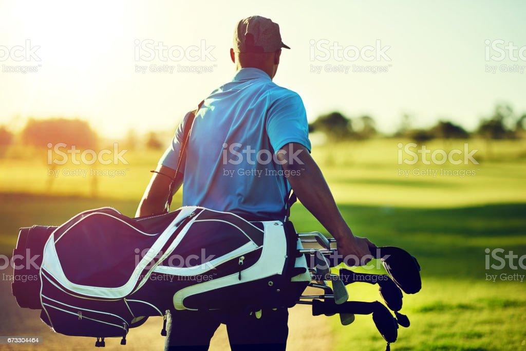 Gone golfing stock photo