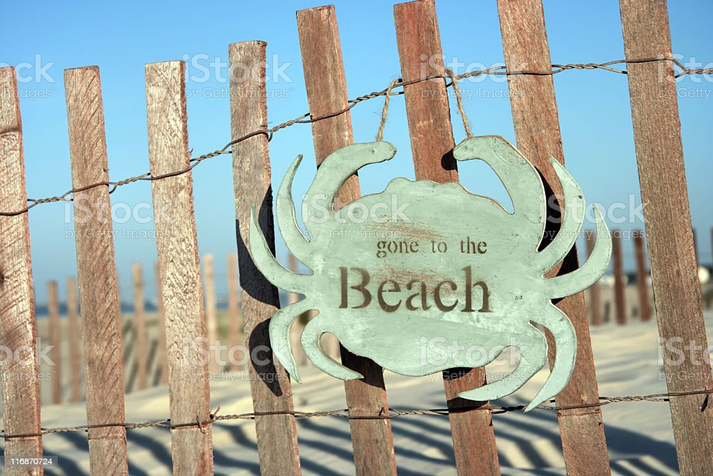 Gone to the Beach royalty-free stock photo