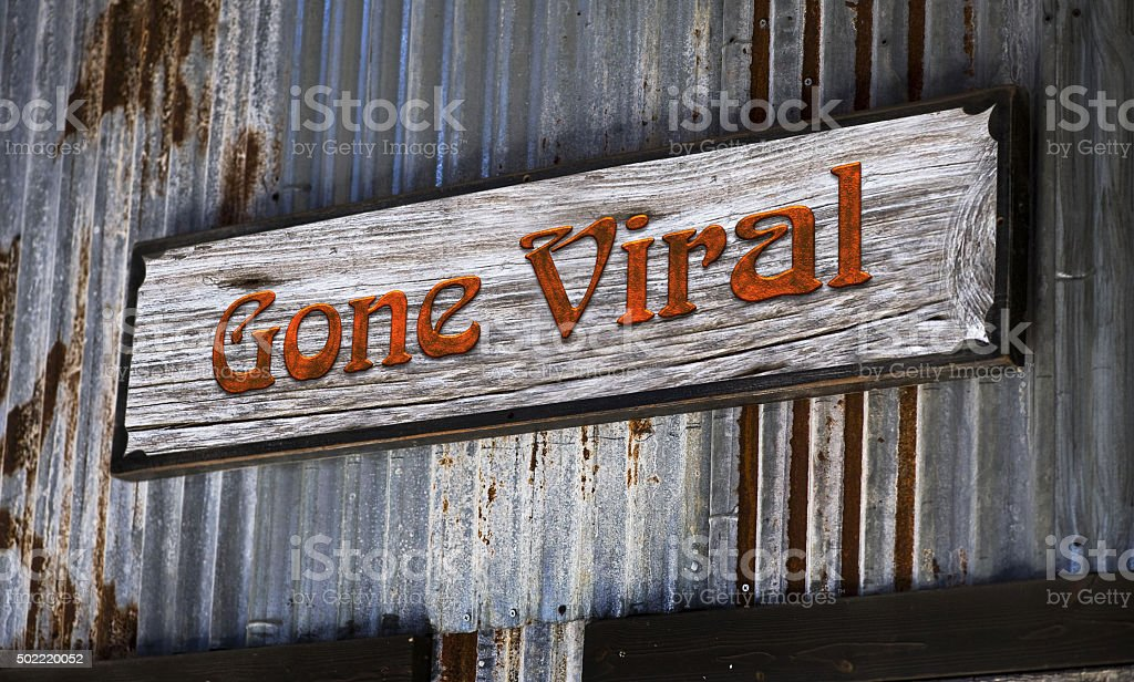 Gone Viral stock photo