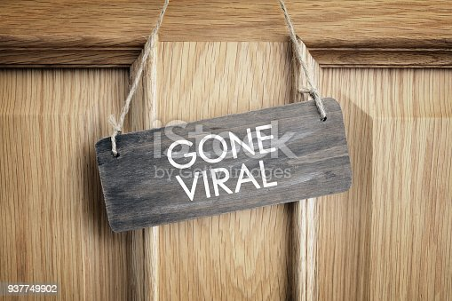 istock Gone viral sign on office door concept for internet marketing and social media 937749902