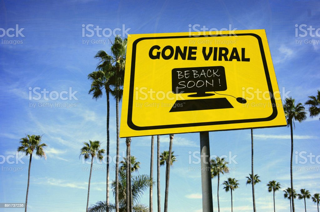 gone viral sign stock photo