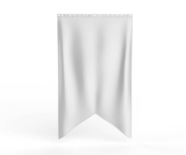 gonfalon inferior espina de pescado bandera de la bandera para su diseño de logotipo. en blanco blanco 3d procesamiento ilustración - bandera fotografías e imágenes de stock