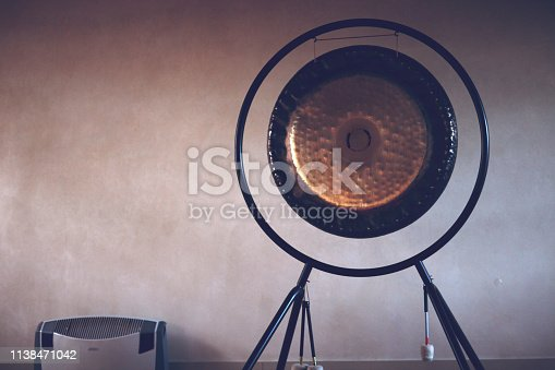 gong in yoga room