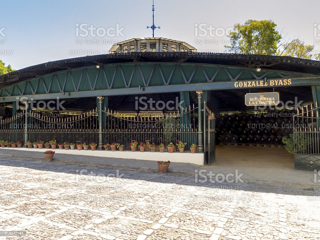 Gonzalez Byass La Concha winery building, Jerez de la Frontera stock photo