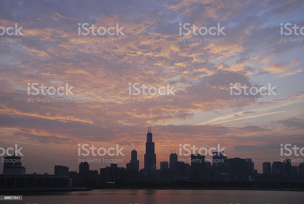 Good Afternoon Chicago stock photo