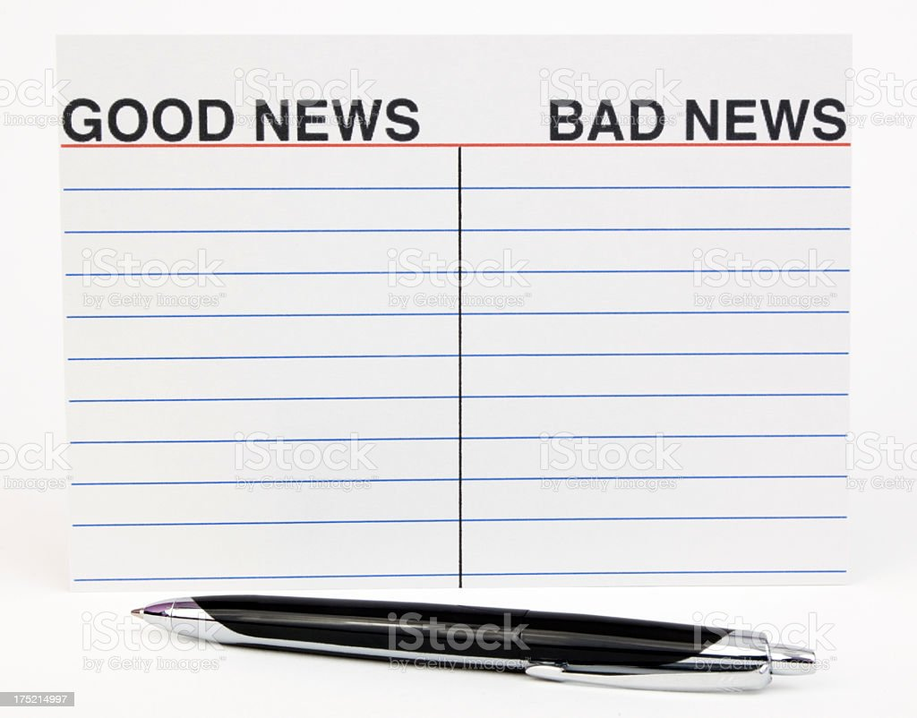 Good and or Bad News royalty-free stock photo