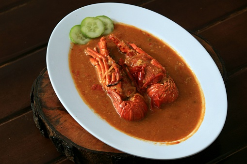 good and spicy lobster seafood